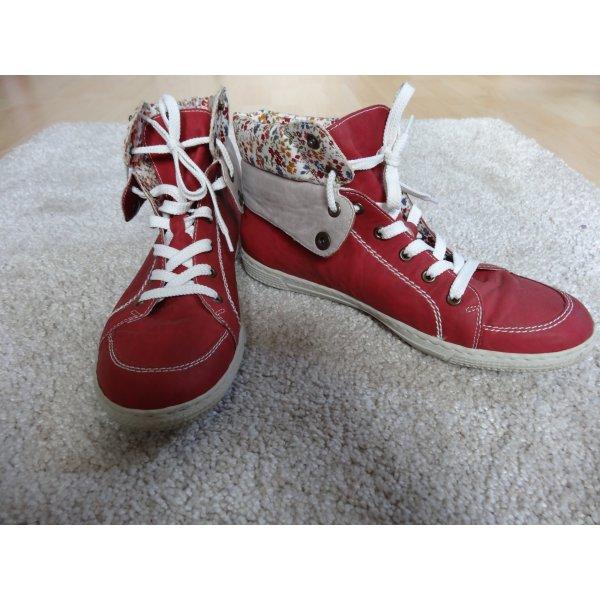 Rieker Scarpa stringata rosso mattone-bianco