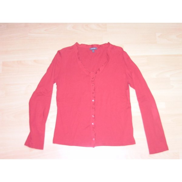 Street One Veste chemise rouge coton