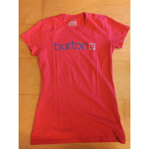 rotes Burton Print-Shirt