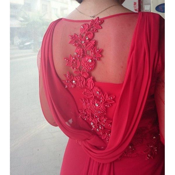 rotes elegantes Abendkleid