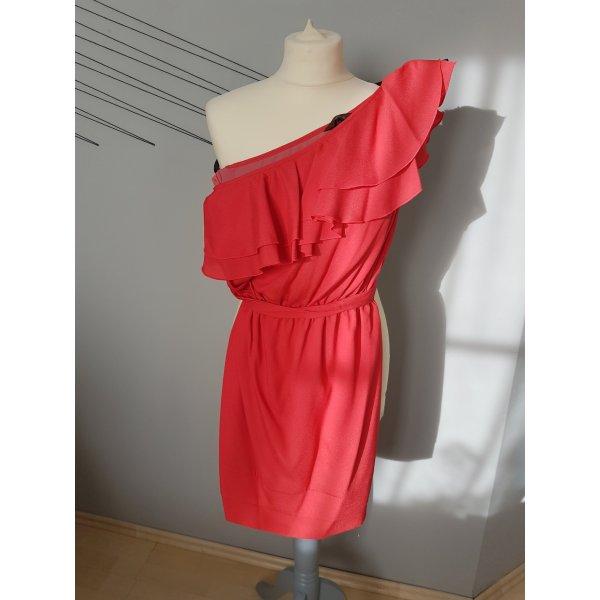 Rotes Kleid / Sommerkleid / One-Shoulder-Kleid
