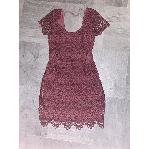 Rotes Spitzen Kleid von Hollister