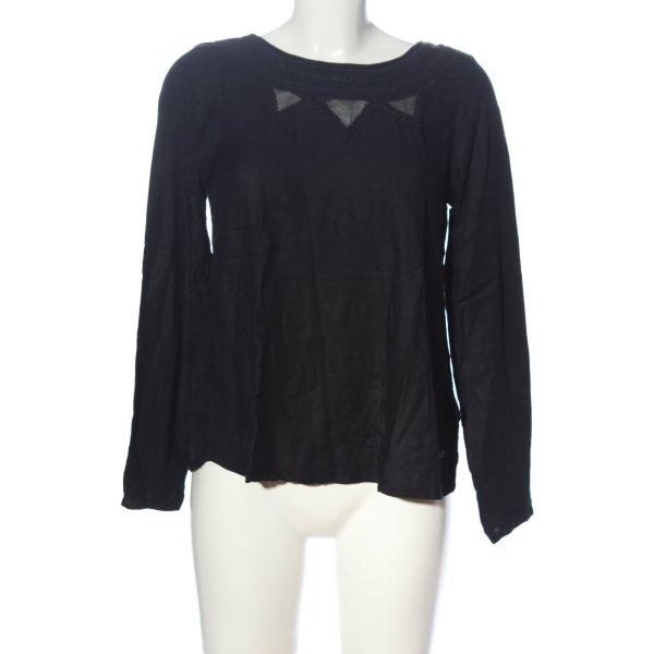 Roxy Schlupf-Bluse schwarz Casual-Look