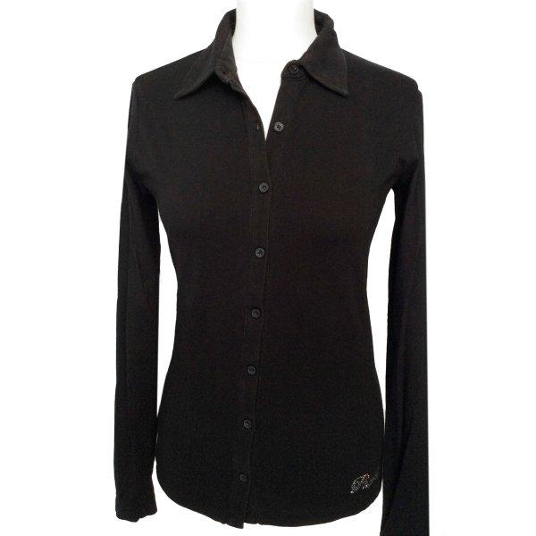 S 36 38 PHARD shirt Bluse Strickjacke Pulli schwarz