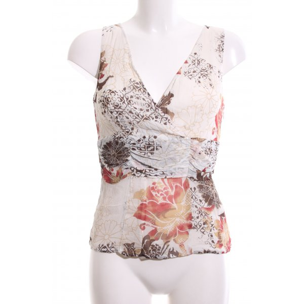 s.Oliver ärmellose Bluse abstraktes Muster Casual-Look