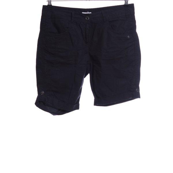 s.Oliver High-Waist-Shorts blau Casual-Look
