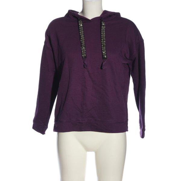 s.Oliver Kapuzensweatshirt lila-silberfarben Casual-Look