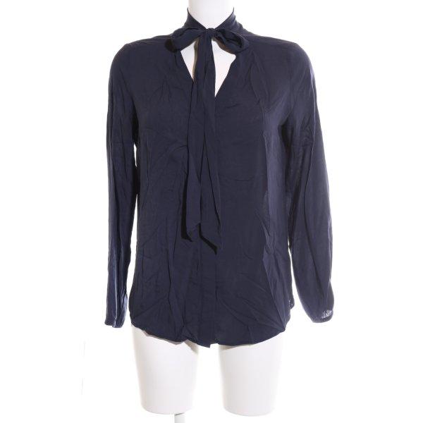 s.Oliver Langarm-Bluse blau Business-Look