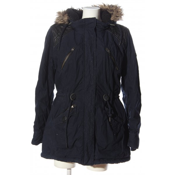 s.Oliver Parka blau Casual-Look