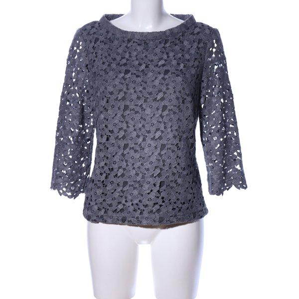 s.Oliver Kraagloze sweater lichtgrijs bloemenprint casual uitstraling