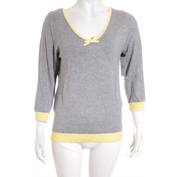 s.Oliver SELECTION Strickpullover blassgelb-grau Casual-Look