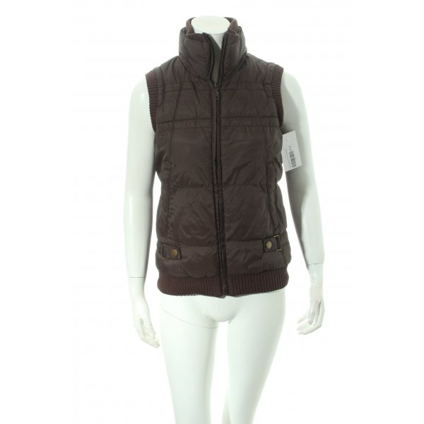 s.Oliver Steppweste braun Steppmuster Casual-Look