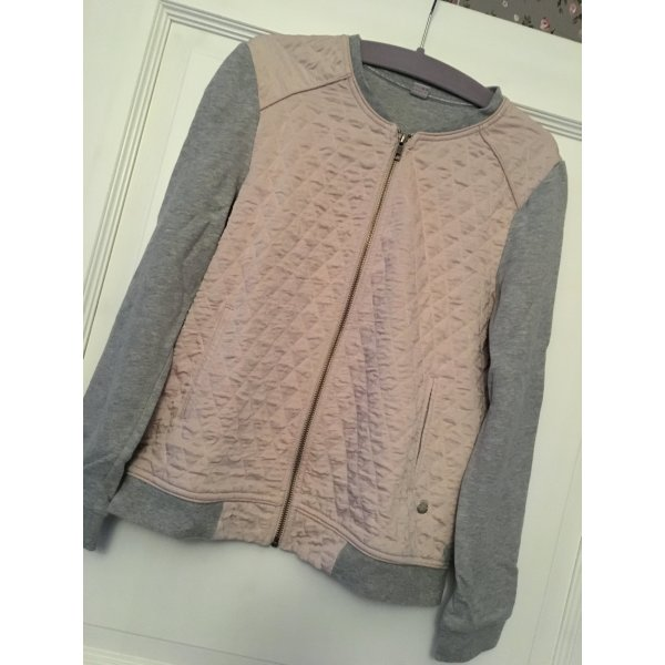 S. Oliver Strickjacke Jacke grau rosa Gr. 38
