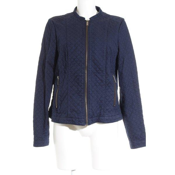 s.Oliver Übergangsjacke dunkelblau Steppmuster Street-Fashion-Look