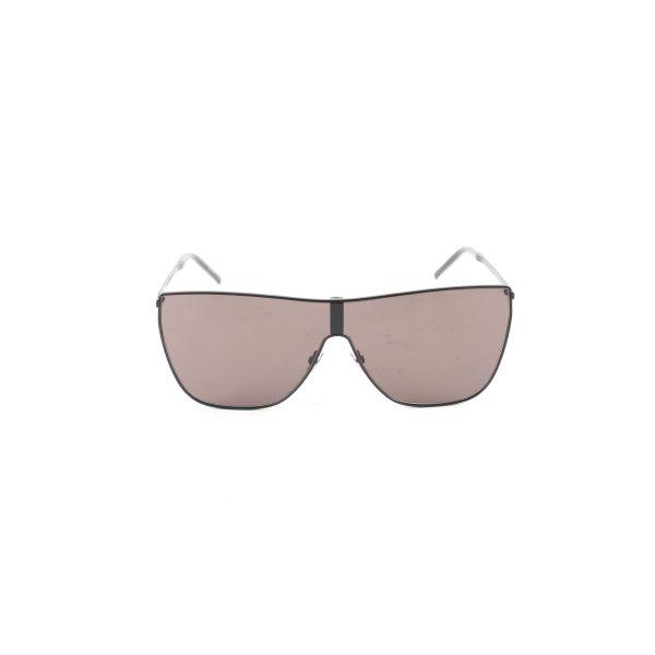 Saint Laurent eckige Sonnenbrille schwarz Casual-Look