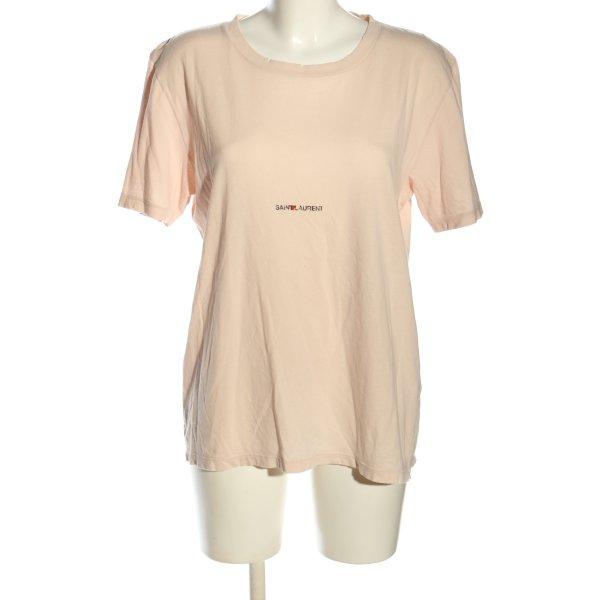 Saint Laurent T-Shirt wollweiß Schriftzug gedruckt Casual-Look