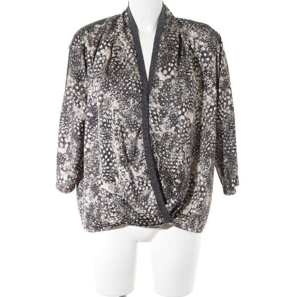 Saint Tropez Langarm-Bluse creme-schwarz Casual-Look
