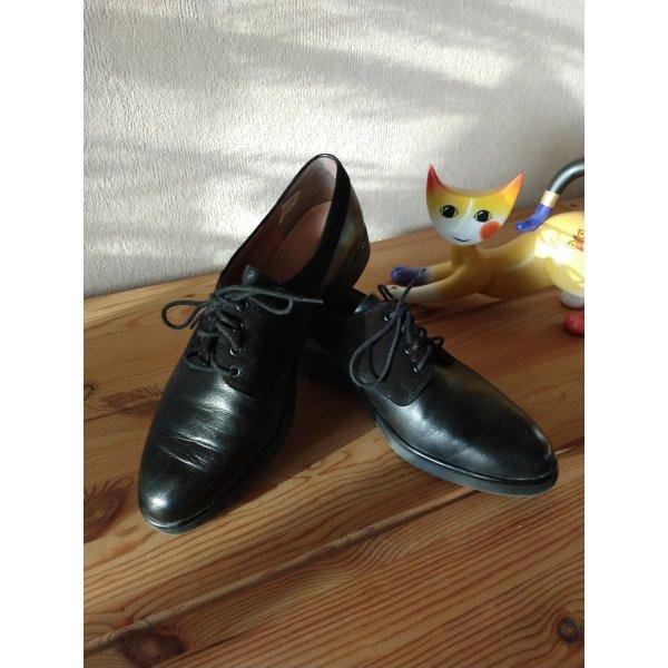 Salamander Leder Business Schuh schwarz in Größe 5/38