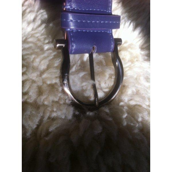 Salvatore ferragamo Leather Belt lilac-lilac leather