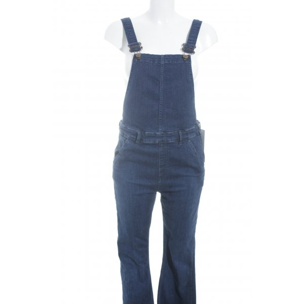 Samsøe & samsøe Jeans met bovenstuk donkerblauw