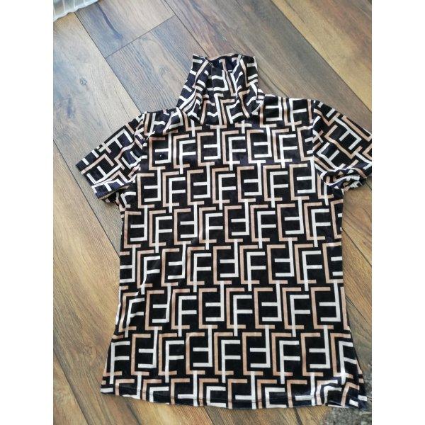 Samtshirt mit sehr coolem Muster