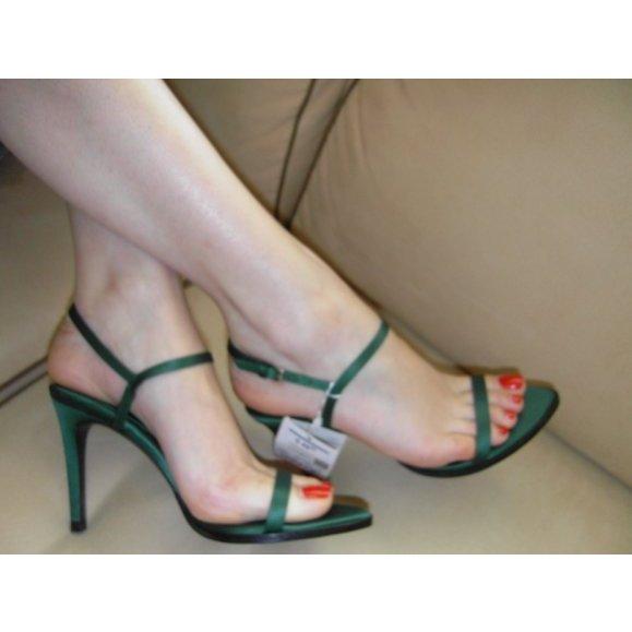 Sandalen aus Satin von Zara. NEU!