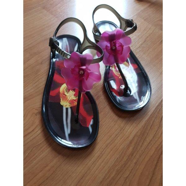 Furla Flip flop sandalen zwart-framboosrood
