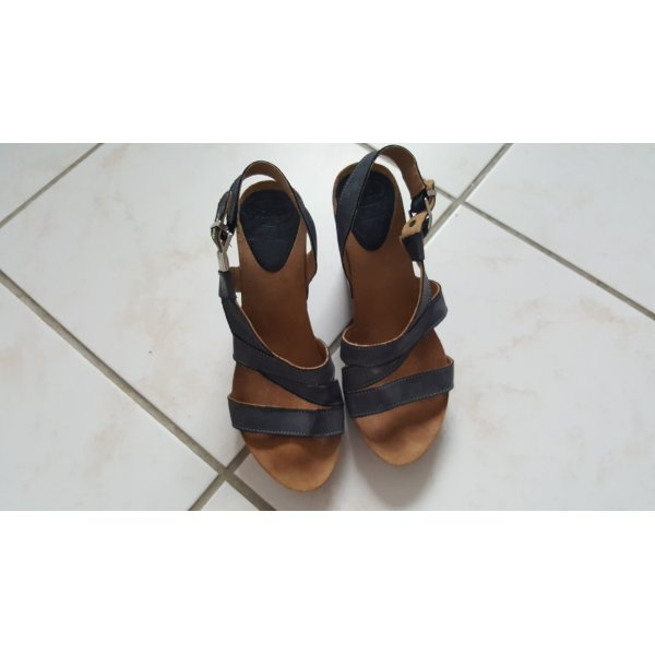 Scholl Wedge Sandals slate-gray leather