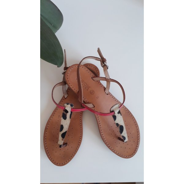 Sandaletten GEOX Raspira, Größe 38, Leder, Leopard Print, Neu
