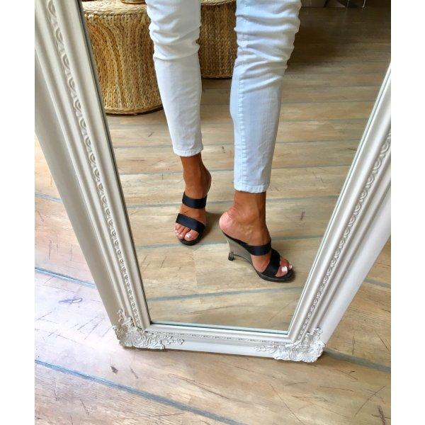 Sandaletten#Keilabsatz#Schwarz Neu!