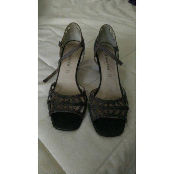 Tamaris High-Heeled Sandals grey brown