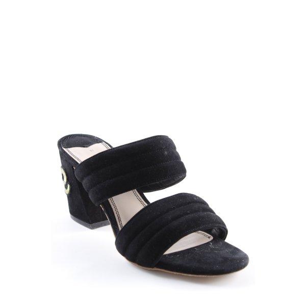 Sandro Heel Pantolettes black-oatmeal elegant