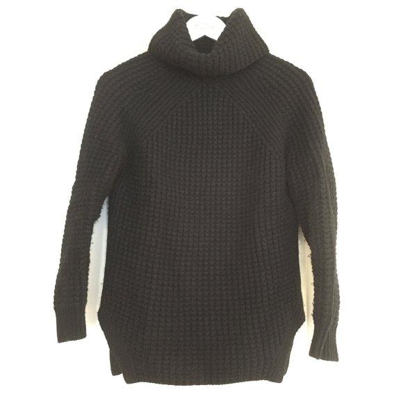 Sandro Paris RollkragenPullover schwarz Merinowolle Pullover - S