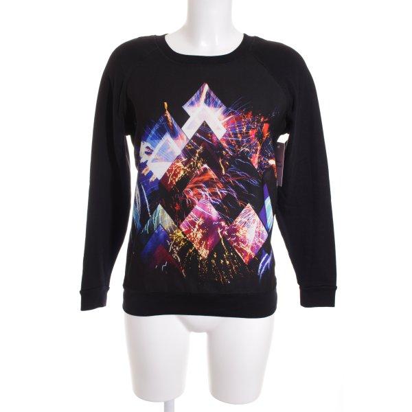 Sandro Sweatshirt abstrakter Druck Street-Fashion-Look