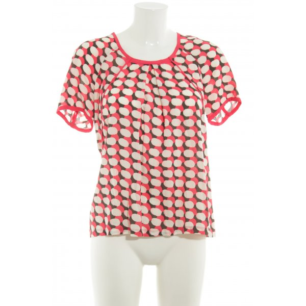 Sandwich Kurzarm-Bluse Punktemuster Casual-Look