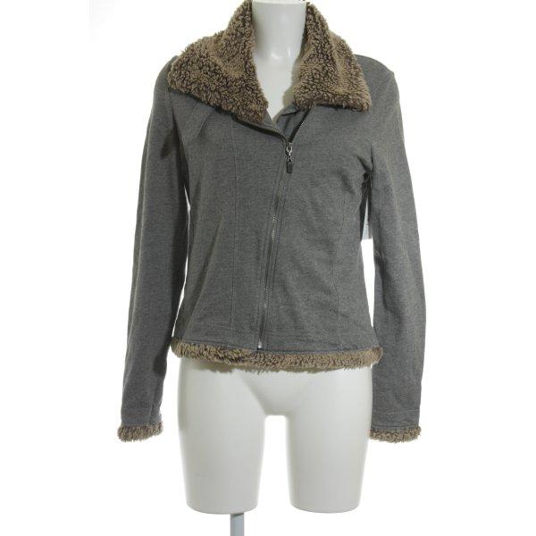 Sandwich Shirt Jacket beige-grey casual look