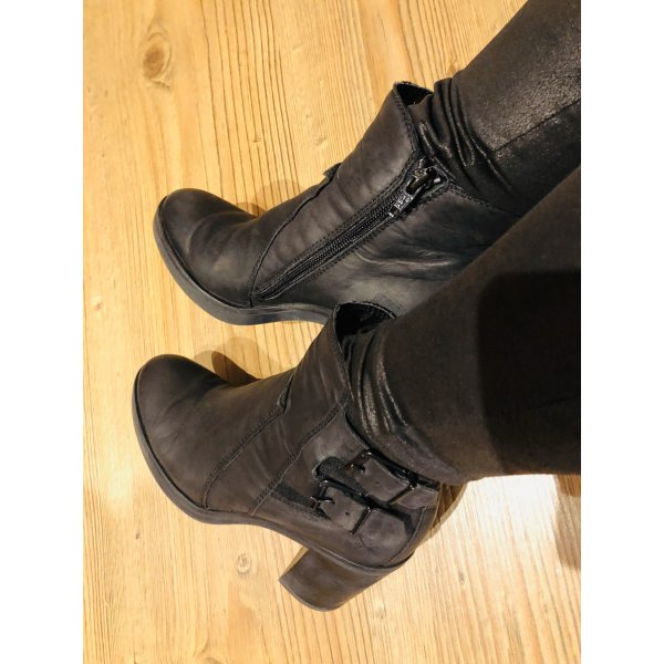 Sansibar Platform Booties black-anthracite leather