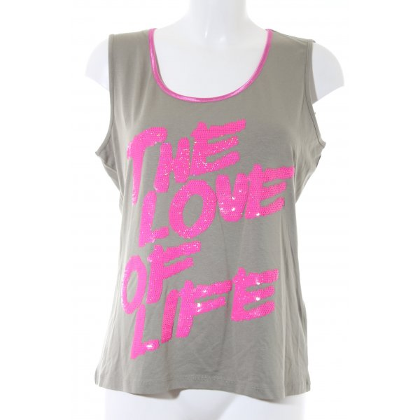 Sarah Kern Longtop petrol-pink Casual-Look