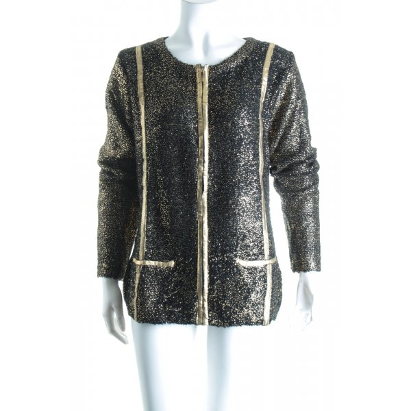 Sarah Kern Strickjacke schwarz-goldfarben Party-Look