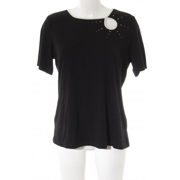 Sarah Kern T-Shirt schwarz Glitzer-Optik
