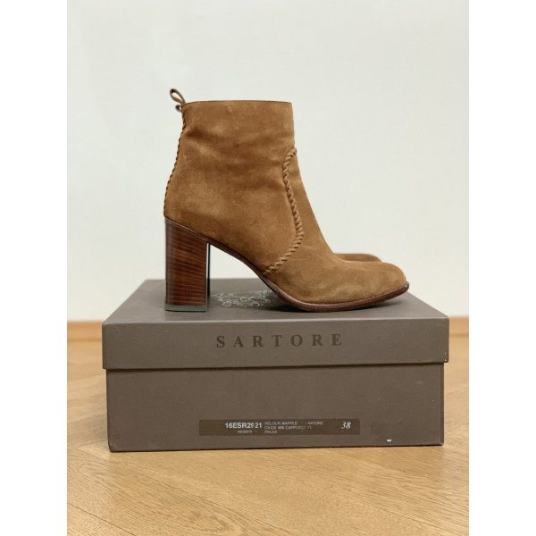 Sartore Ankle Boots Velours Leder Western-Style