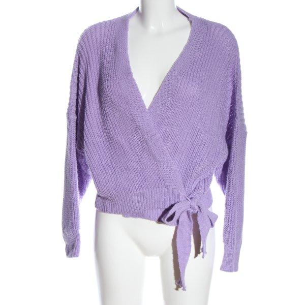 SassyClassy Scaldacuore in maglia lilla stile casual