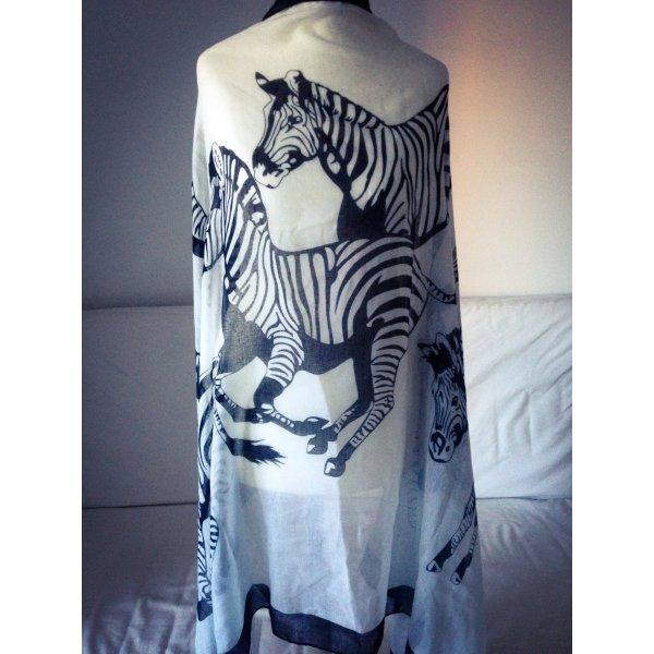 schal zebras neuwertig schwarz weiss m dchenflohmarkt. Black Bedroom Furniture Sets. Home Design Ideas