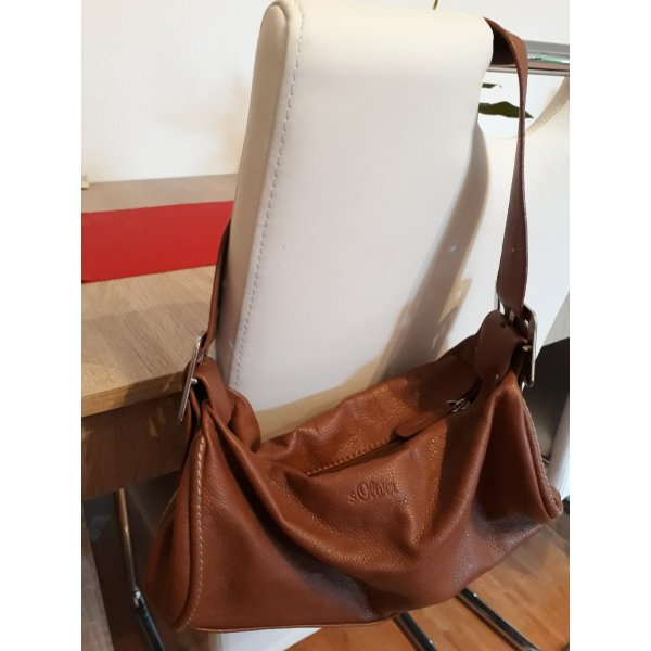 s.Oliver Carry Bag brown-silver-colored leather