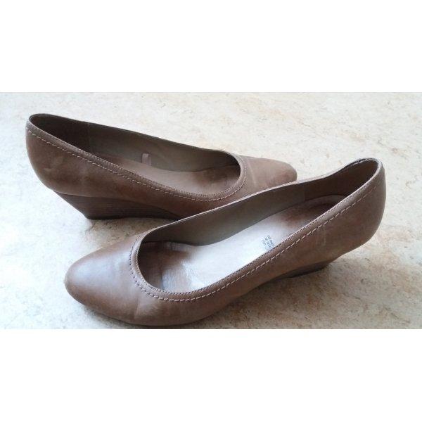 Schicke Keilabsatz Ballerinas aus Leder