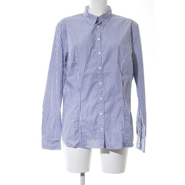 Schiesser Langarmhemd blau-weiß Streifenmuster Casual-Look