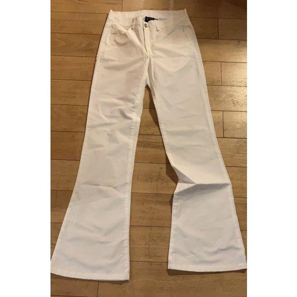 Pantalon pattes d'éléphant blanc