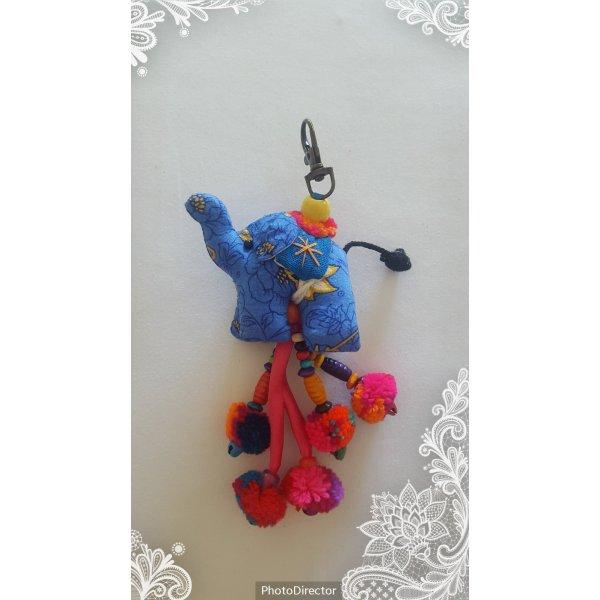 Schlüssel-/Taschenanhänger Elefant mit Bommeln NEU
