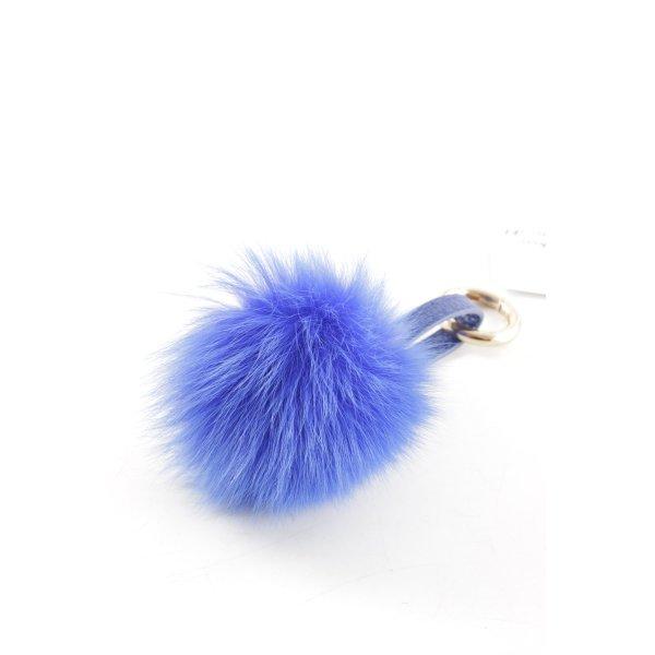 Porte-clés bleu-blanc molletonné