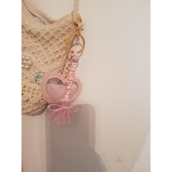 Bid Handmade Key Chain light pink